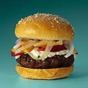Peach & Vidalia Burgers Recipe