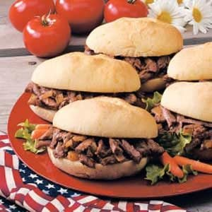 Mile-High Shredded Beef for a Crowd Recipe