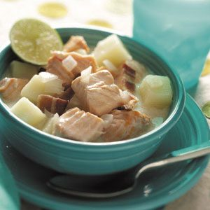 Salmon Chowder with Bacon Recipe
