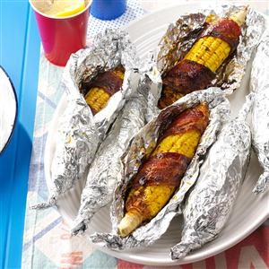Father's Day Potluck: Bacon-Wrapped Corn