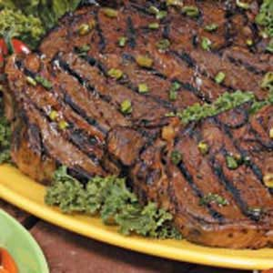 Marinated Grilled Ribeye Steaks