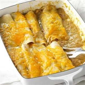 Onion & Green Chili Enchiladas