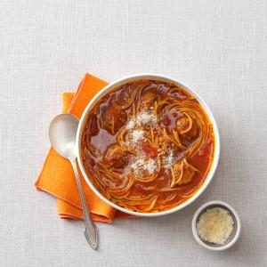 Spaghetti & Meatball Soup Recipe