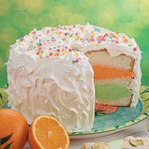 Citrus Sherbet Torte Recipe