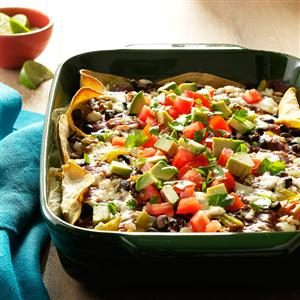 Black Bean & Chicken Enchilada Lasagna Recipe