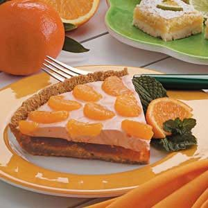 Mandarin Orange Cream Pie Recipe
