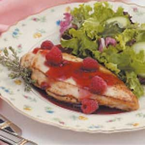 Chicken with Raspberry Thyme Sauce Recipe