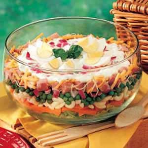 Layered Basil Salad Recipe