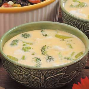 Cheesy Floret Soup Recipe