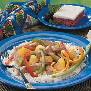 Orange Pork Stir-Fry Recipe