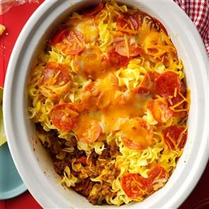 Slow-Cooked Pizza Casserole Recipe