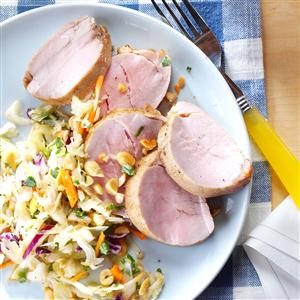 Asian-Style Pork Tenderloin with Slaw Recipe