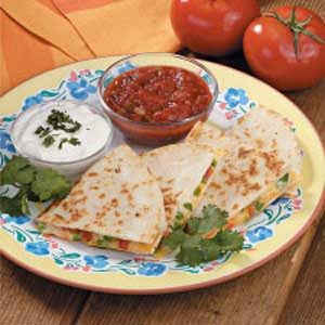 Two-Cheese Quesadillas Recipe
