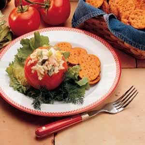 Seafood-Stuffed Tomatoes Recipe