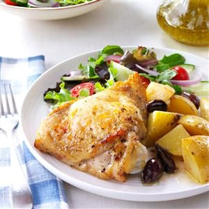 Greek-Style Lemon-Garlic Chicken Recipe photo by Taste of Home