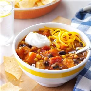 Slow Cooker Chicken Sweet Potato Chili