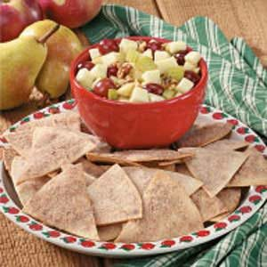Apple Pear Salsa with Cinnamon Chips Recipe