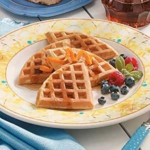 Pecan Wheat Waffles Recipe