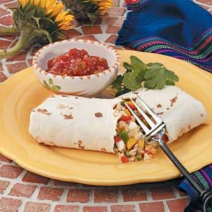 Sweet Pepper Burritos Recipe