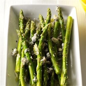 Marinated Asparagus with Blue Cheese