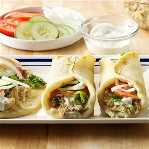 Shredded Chicken Gyros
