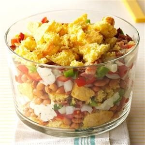 Layered Corn Bread Salad Recipe