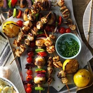 Spicy Lemon Chicken Kabobs