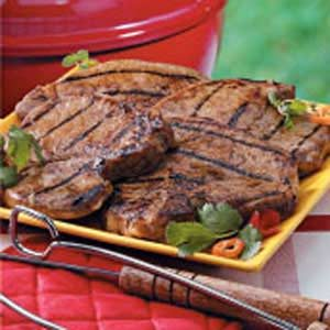 Grilled Marinated Pork Chops Recipe