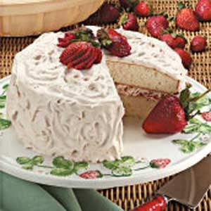 Fruit-Filled White Cake Recipe
