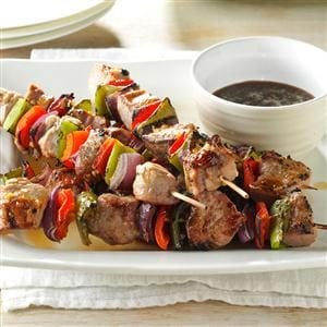 Plum-Glazed Pork Kabobs Recipe
