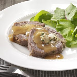 Slow-Cooked Stuffed Flank Steak