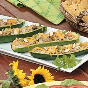 Asian Stuffed Zucchini Recipe