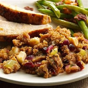 Herbed Apple-Cranberry Bread Dressing Recipe