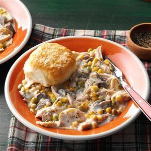 Alfredo Chicken & Biscuits Recipe