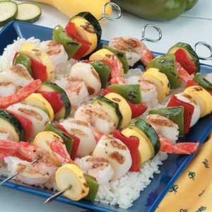 Herbed Seafood Skewers Recipe