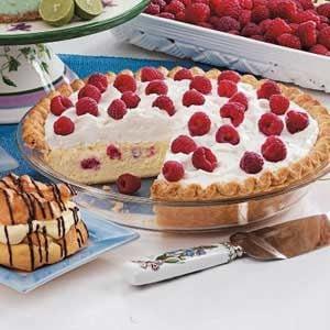 Raspberry Cheesecake Pie Recipe