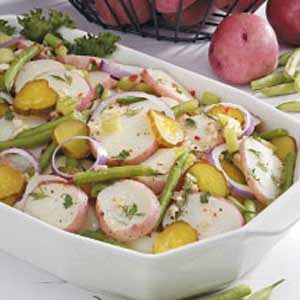 Dilly Bean Potato Salad Recipe