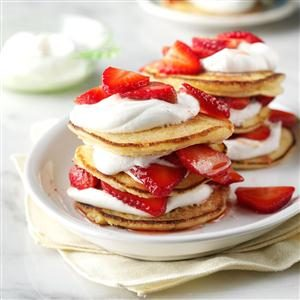 Cornmeal Towers with Strawberries & Cream Recipe