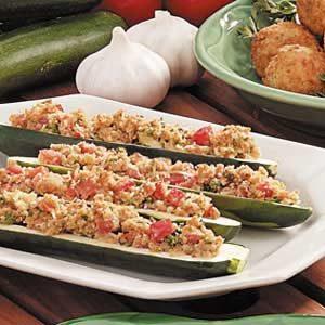 Baked Italian Zucchini Boats Recipe