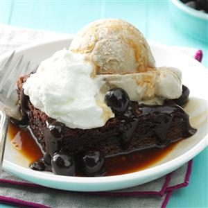 Brownie Affogato Sundaes