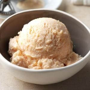 Buttermilk Peach Ice Cream