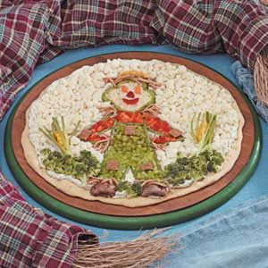 Scarecrow Veggie Pizza Recipe
