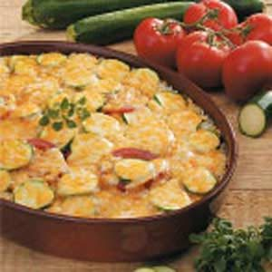Cheesy Zucchini Rice Casserole Recipe