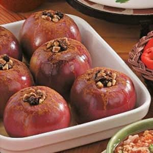 Raisin-Nut Baked Apples Recipe
