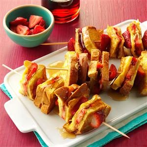Stuffed PB&J French Toast Kabobs