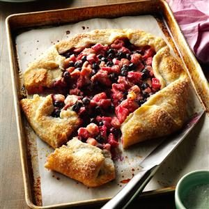 Blueberry Rhubarb Country Tart Recipe