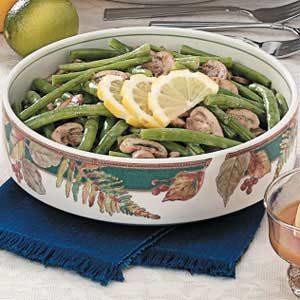 Mushroom Green Beans Recipe