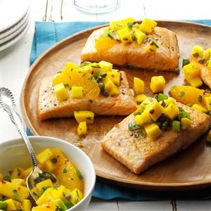 Salmon with Mango-Citrus Salsa
