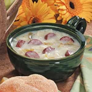 Hearty Cabbage-Sausage Soup Recipe