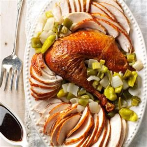 Creole Roasted Turkey with Holy Trinity Stuffing Recipe